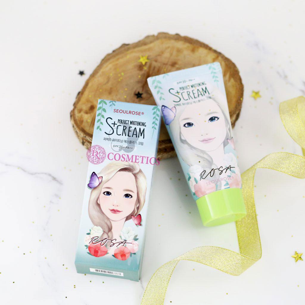Kết quả hình ảnh cho Kem Dưỡng Trắng Da Seoulrose Rosa S+Cream
