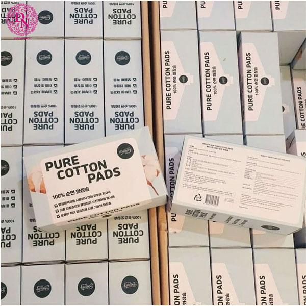 bong-tay-trang-pure-cotton-pads-100-mieng